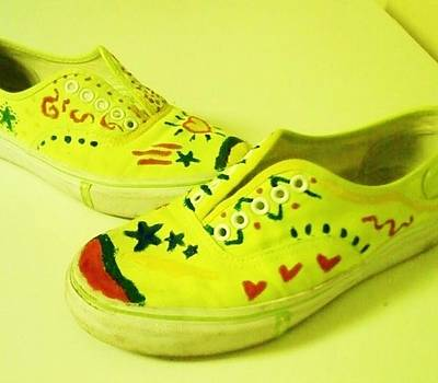 Keds Painting - For The Love Of Shoes by Krystyn Lyon