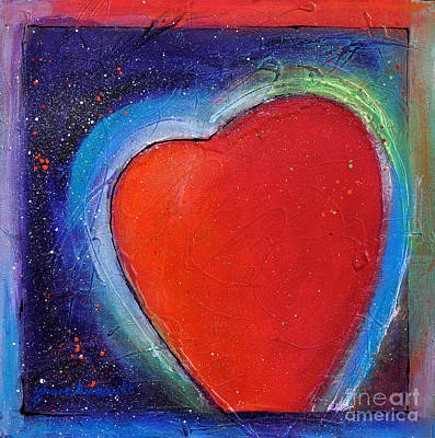 Abstrait Painting - For You Heart 1 by Johane Amirault