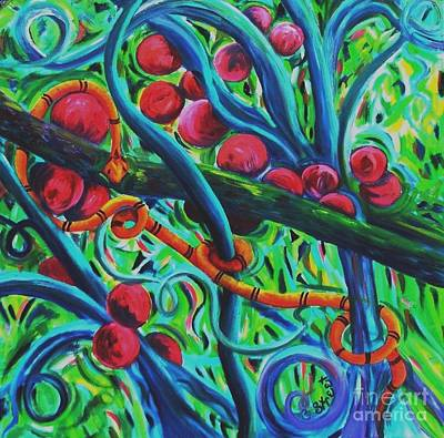 Viper Painting - Forbidden Fruit by Caroline Street