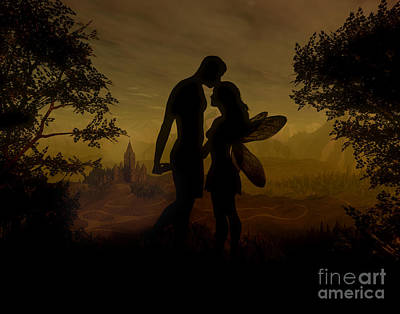 Faery Digital Art - Forbidden Love by Julie Fain