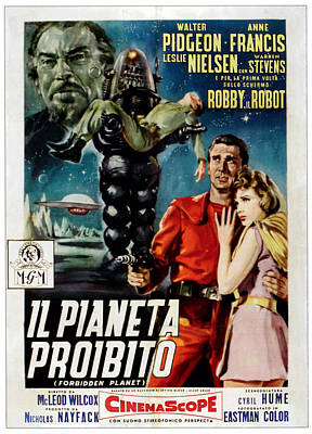 Forbidden Planet Aka Il Pianeta Art Print by Everett