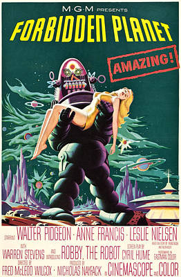 Postv Photograph - Forbidden Planet, Robby The Robot, Anne by Everett