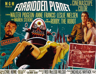 Forbidden Planet, Walter Pidgeon, Anne Art Print by Everett