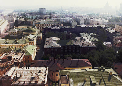 forbidden view over Moscow Art Print by Nafets Nuarb