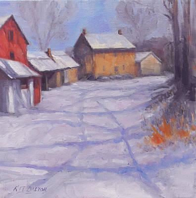 Redfield Painting - Forbornik Homestead Bucks County by Kit Dalton