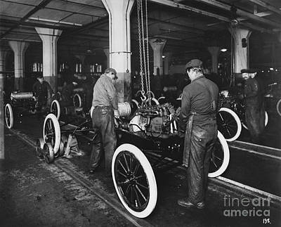 Ford Assembly Line Art Print by Omikron