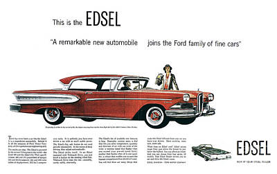 Photograph - Ford Cars: Edsel, 1957 by Granger