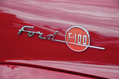 Ford F-100 Nameplate Print by Guy Whiteley