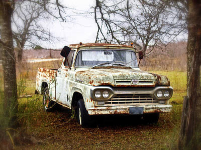 Photograph - Ford F100 by James Granberry