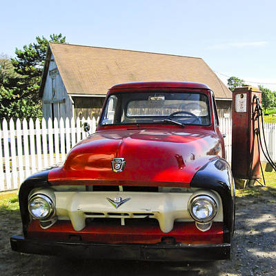 Photograph - Ford F100 Pick Up by Peggie Strachan