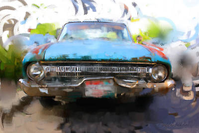 Digital Art - Ford Falcon by Geoff Strehlow