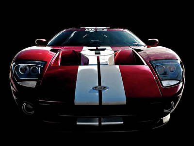 Supercars Digital Art - Ford Gt by Douglas Pittman