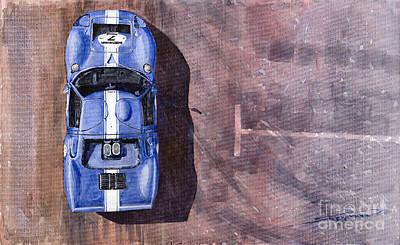 Classic Car Painting - Ford Gt40 Leman Classic by Yuriy  Shevchuk