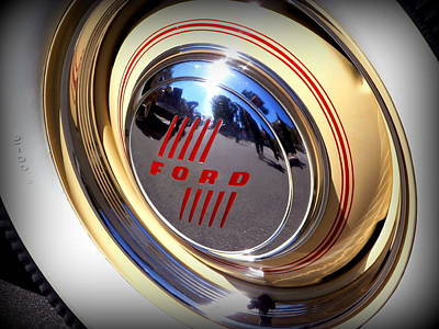 Hubcap Wall Art - Photograph - Ford Hubcap by Karyn Robinson