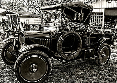 Photograph - Ford Model T Black N White by Kristie  Bonnewell