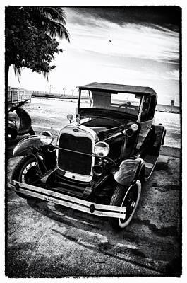 Film Noir Digital Art - Ford Model T Film Noir by Bill Cannon