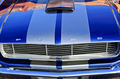 Photograph - Ford Mustang Grille by Jill Reger