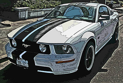 Photograph - Ford Mustang Gt No. 2 by Samuel Sheats
