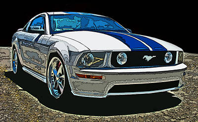 Ford Mustang Gt Art Print by Samuel Sheats