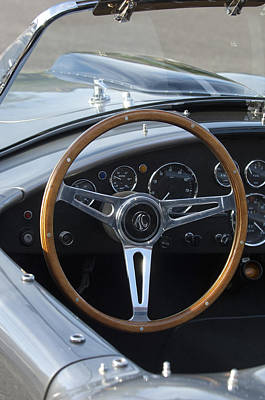 Photograph - Ford Shelby Cobra Steering Wheel by Jill Reger