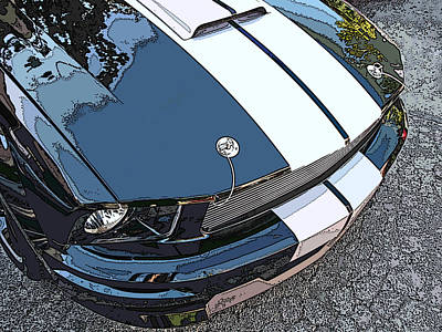 Ford Shelby Gt Nose Study Art Print by Samuel Sheats