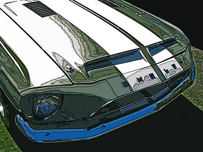 Ford Shelby Gt500 Front View Art Print