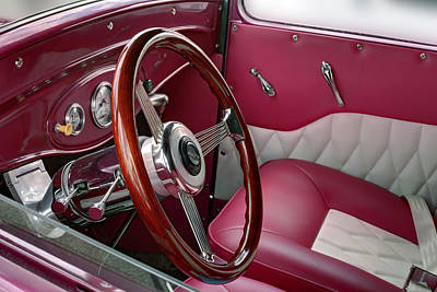 Photograph - Ford T V8 1928 Inside. Miami by Juan Carlos Ferro Duque