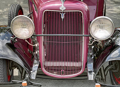 Photograph - Ford T V8 1928 Nose. Miami. Fl. Usa by Juan Carlos Ferro Duque
