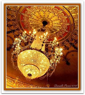 Victorian Era Digital Art - Ford Theater Candelier by Danielle  Parent