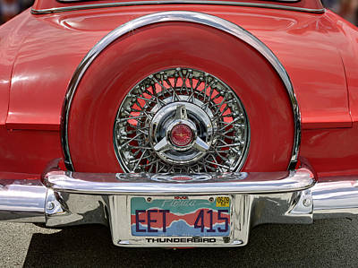 Photograph - Ford Thunderbird 1957 Rear View. Miami by Juan Carlos Ferro Duque