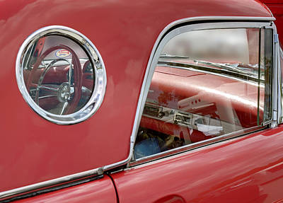 Photograph - Ford Thunderbird 1957 Side View. Miami by Juan Carlos Ferro Duque