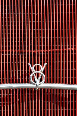 Photograph - Ford V8 Ornament On Grill by Carolyn Marshall