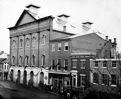 Art Print featuring the photograph Fords Theater - After Lincolns Assasination - 1865 by International  Images