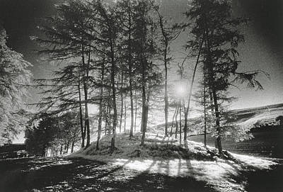 Sun Casting Shadow Photograph - Forelacka Burial Ground by Simon Marsden