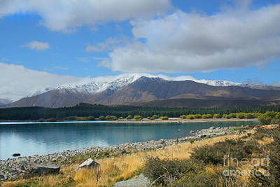 Photograph - Foreshore Lake Tekapo by Nareeta Martin