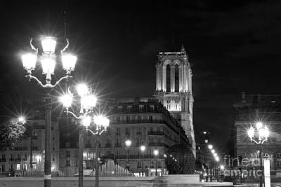 Photograph - Foreshortening Of Paris By Night by Fabrizio Ruggeri
