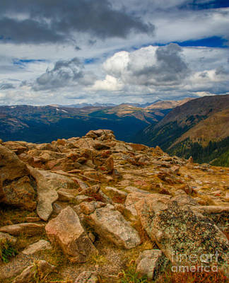 Photograph - Forest Canyon Outlook Toward Never Summer Mountains by Harry Strharsky