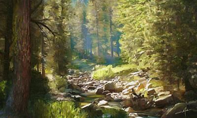 Forest Creek Art Print by Dale Jackson