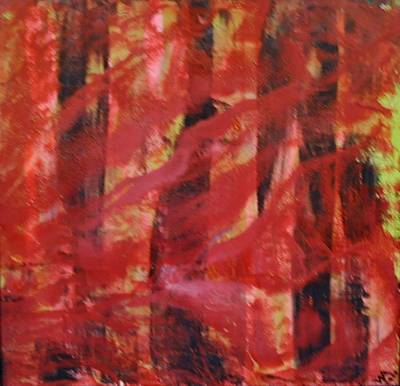 Mixed Media - Forest Fire by Brenda Chapman