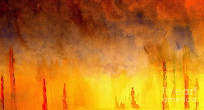 Painting - Forest Fire by Michael Canning