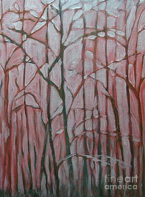 Folkartanna Painting - Forest In The Fog by Anna Folkartanna Maciejewska-Dyba