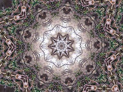 Digital Art - Forest Mandala 4 by Rhonda Barrett