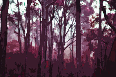 Forest Of Trees In Winter Twilight Original by Phill Petrovic