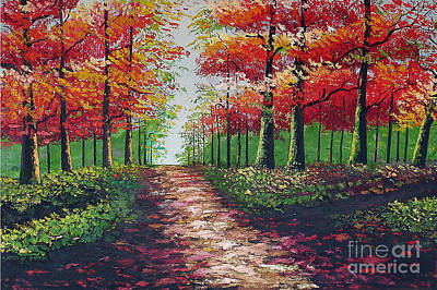 Forest Path - Detail Art Print by Kostas Dendrinos