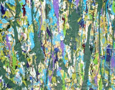 Fruit Tree Art Painting - Forest by Paula Bramlett