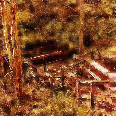 Forest Steps - Down Into The Peaceful Art Print