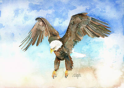 Eagle Painting - Forever Free by Arline Wagner