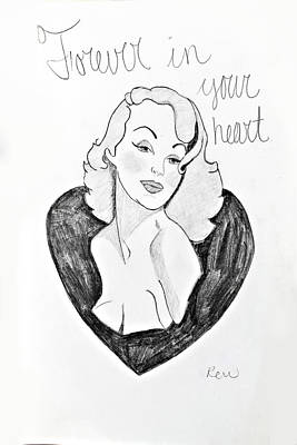 Drawing - Forever In Your Heart by Rebecca Wood