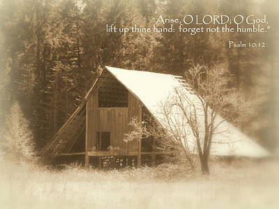 Photograph - Forget Not Humble Psalm by Cindy Wright