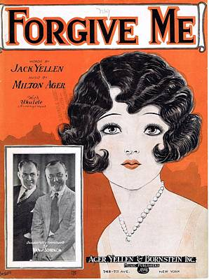 Old Sheet Music Photograph - Forgive Me by Mel Thompson